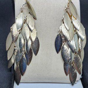 Silver Tone Layered Drop Dangle Earrings Women